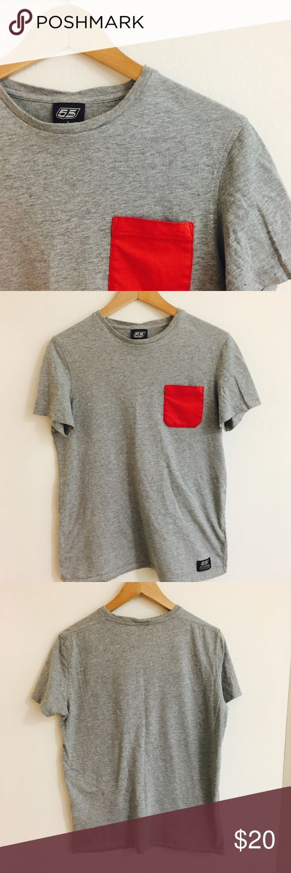 Mens Diesel t-shirt Red pocket. 100% cotton. Gently worn. Diesel Shirts Tees - Short Sleeve