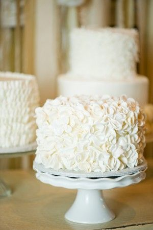 love the idea of having a tiny cake for the bride and groom to cut and then either doing cupcakes or another dessert for the rest of the guests!