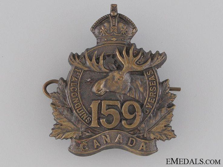 WWI 159th Infantry Battalion Cap Badge CEF