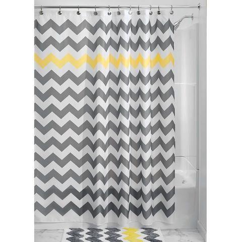 Grey And White Chevron Shower Curtain. Grey Yellow White Chevron Zig Zag Stripe 72 inch Shower Curtain 26 best Modern images on Pinterest  shower