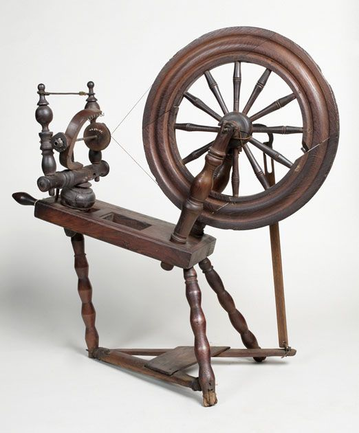 how to use an antique spinning wheel