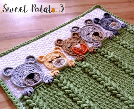 Sleep Tight Teddy Bear Set - Crochet Pattern - Sweet Potato 3