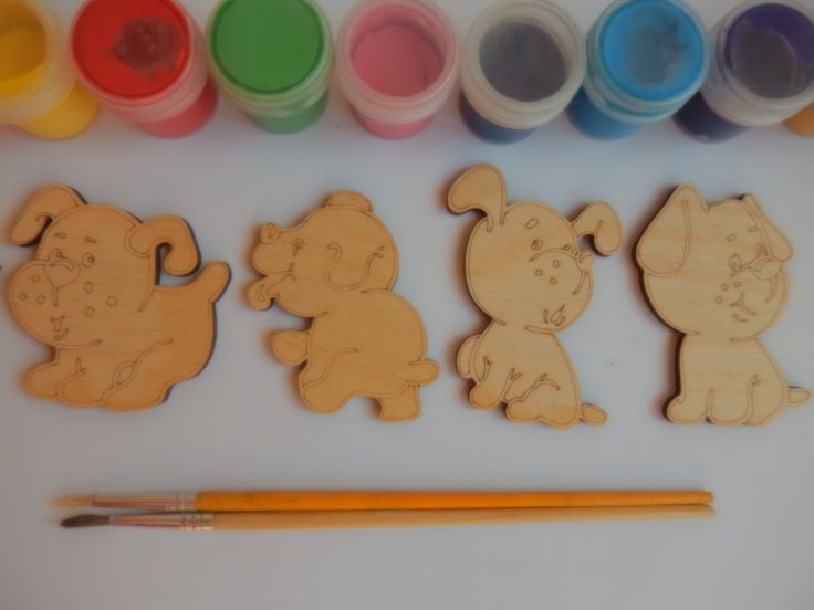 48 best ideas about wood shapes for coloring on pinterest for Dog crafts for adults