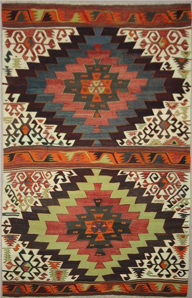 R7607 Anatolian Karapinar Kilim Rug #KilimRugs