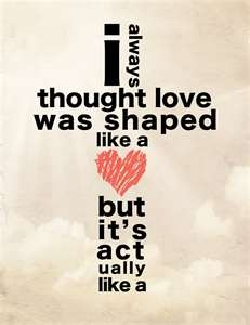 ..true love starts at the Cross...