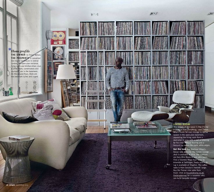 A wall of vinyl records. HOLY SH**!