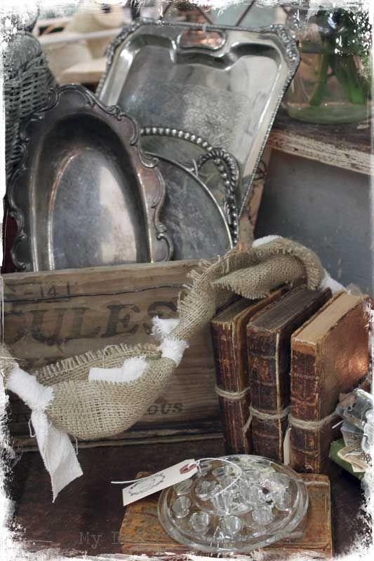 Love this Vignette.....Sweet Vintage Treasures