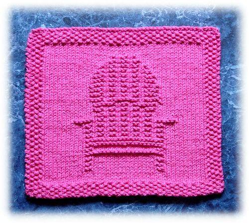 Deck Chair Dishcloth pattern by Rachel van Schie