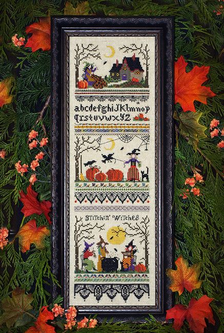 Stitchin' Witches - Cross Stitch Pattern