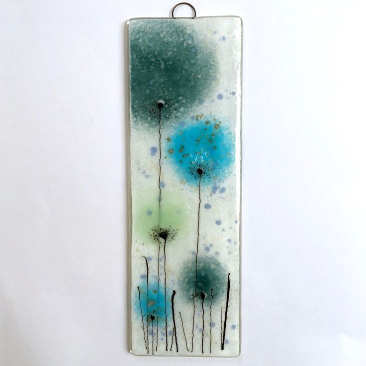 fused glass wall art aquamarine blue fused glass glass picture turquoise glass art turquoise flower fused glass art eh 575
