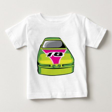green race car baby T-Shirt - click/tap to personalize and buy