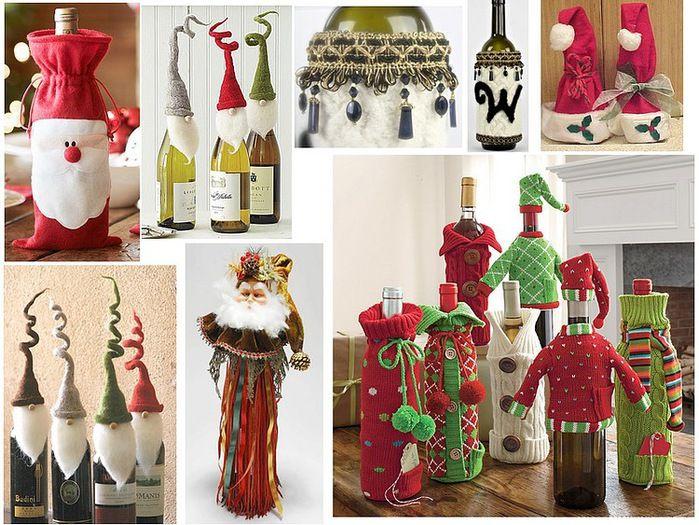 декорирование новогоднего шампанского