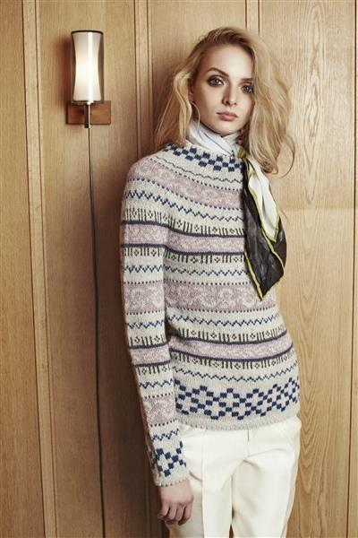 """Tema 39: Modell 11a """"Haukeli"""" genser #norsk #klassiker #strikk #knit"""