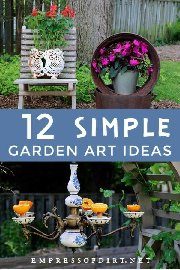 12 Super Simple Garden Art Ideas Rock Garden Design Cottage