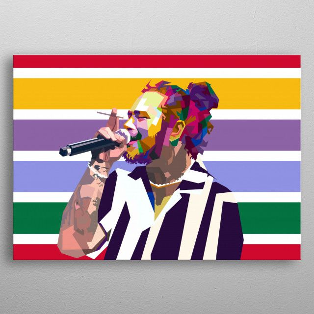 post malone poster art print by