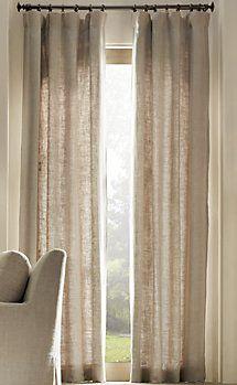 """belgian linen"" drapes {restoration hardware}"