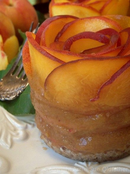 Raw Layered Peach and Caramel Ginger Pie; looks amazing but intimidating to make, maybe someday.