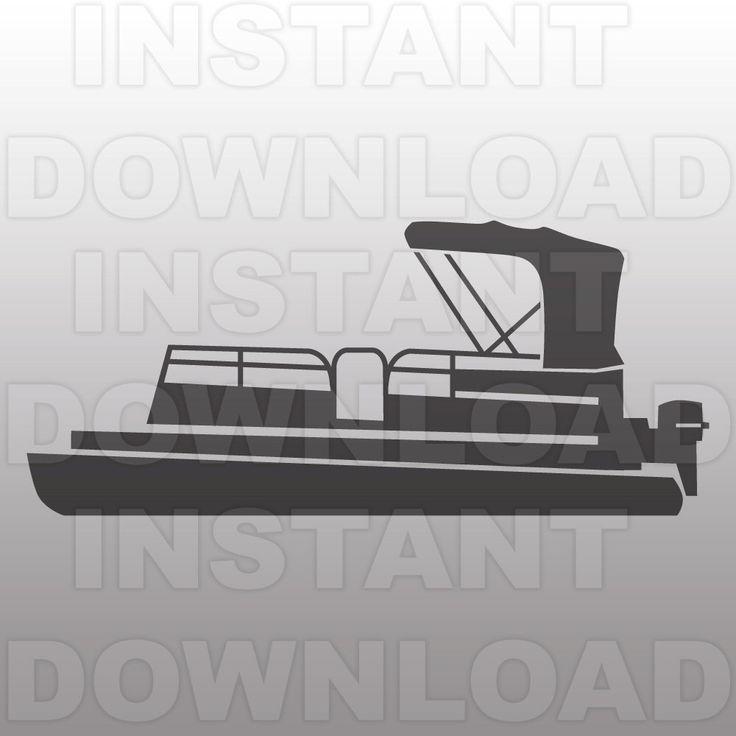 Pontoon Boat SVG File,Lake Life SVG File,Boat SVG File-Vector Art for Commercial & Personal Use-Cricut,Cameo,Silhouette,Vinyl,htv,Decal by sammo on Etsy https://www.etsy.com/listing/387039506/pontoon-boat-svg-filelake-life-svg