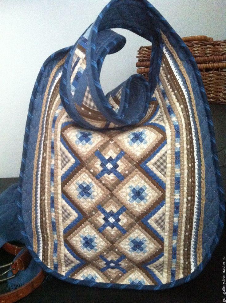 """Купить """" Медуница """" лоскутная сумка. - комбинированный, орнамент, летняя сумка, лоскутная сумка"""