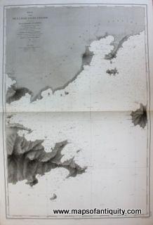 Antique-Chart-Map-Brazil-Coast-Ilha-Grande-Mangaratiba-Palmas-depot-marine South America- Maps of Antiquity