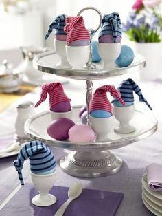 """Eierwärmer """"Minimatrosen"""" für den Frühstückstisch #diy"""