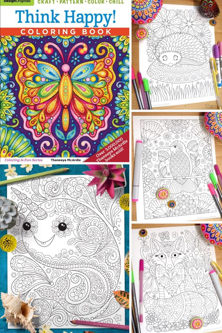 Art From Thaneeya Mcardle S Think Happy Coloring Book Coloring Books Free Coloring Pages Coloring Pages