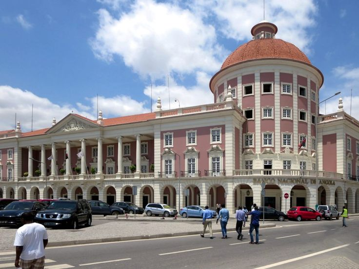 The Banco Nacional de Angola building on the Marginal in Luanda, Angola, dates from 1956.