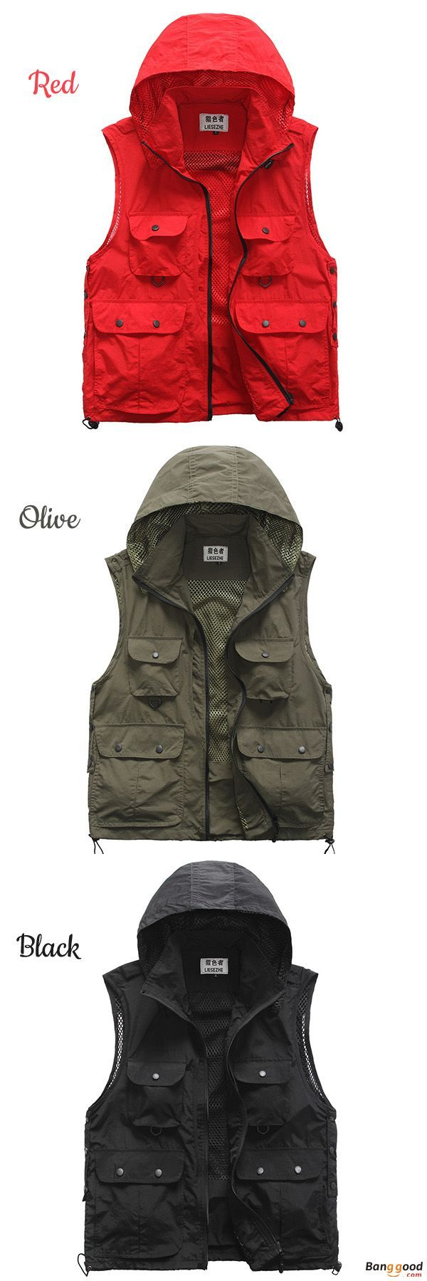 US$36.16 + Free Shipping. Outdoor Vest, Quick Dry  Vest, Multi Pockets  Vest, Detachable  Vest, Hood Photography Vest, Work Clothes. Material: Polyester. Color: Red, Black, Green. >>> To View Further, Visit Now. #vestswomensoutfits