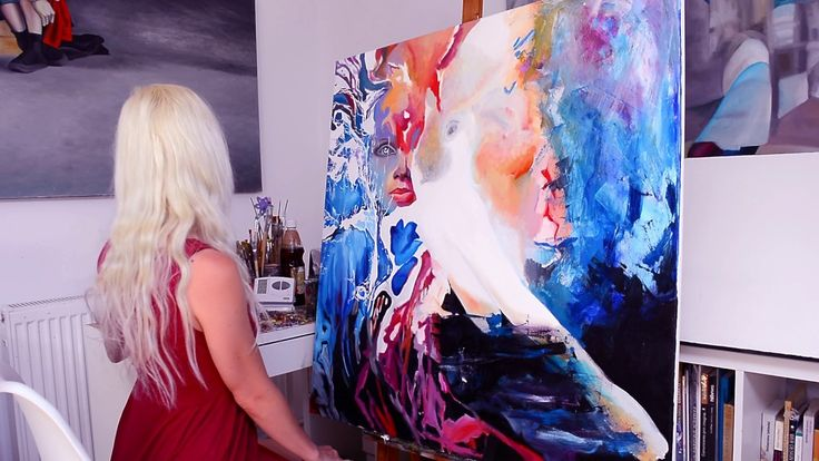 """Step by step, speed oil painting of """"I wish upon the stars"""" artwork by O..."""