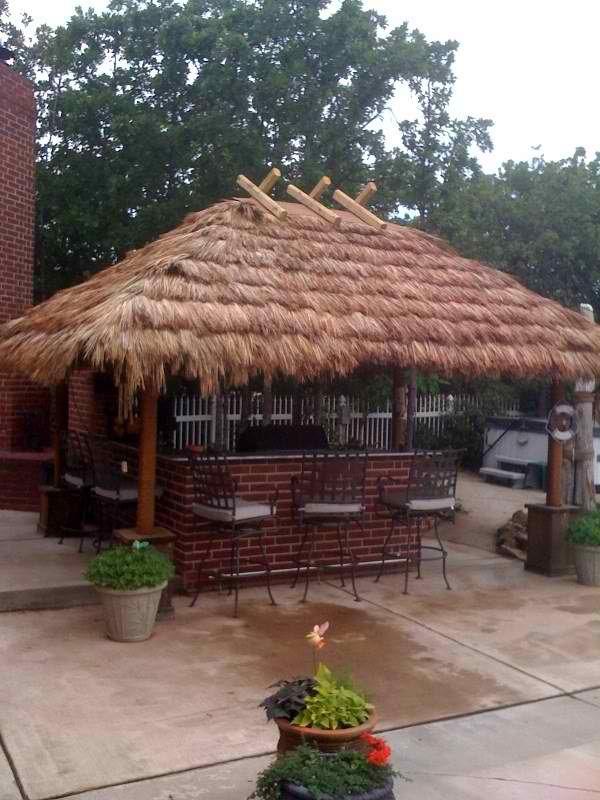 Tahitian Thatch Thatch Roof Covering Tiki Shack Importer Outdoor Tiki Bar Tiki Hut Backyard Bar