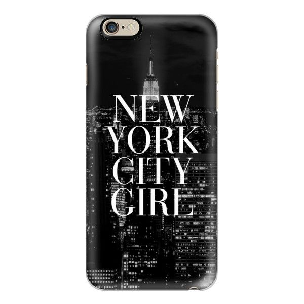 iPhone 6 Plus/6/5/5s/5c Case - New York City Girl Black and White... (2.250 RUB) ❤ liked on Polyvore