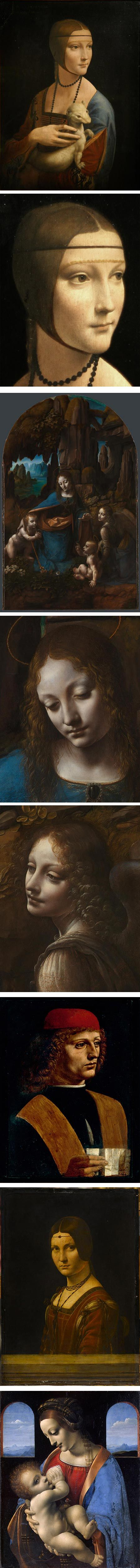 Leonardo Da Vinci's Paintings -it's as if they could walk off the page and talk to me...