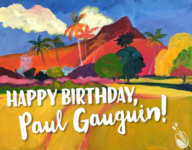 His adventures from Paris to Tahiti made his artistic vision rich with color. Happy Birthday Paul Gauguin! paintingwithatwist.com/locations/