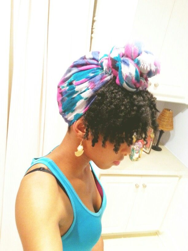 My new scarf!  It's great for a semi protective style. ♥ IG: str8gke
