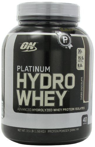 Optimum Nutrition Platinum Hydro Whey, Turbo Chocolate, 3.5 Pound | Multicityhealth.com List Price: $106.49 Discount: $51.54 Sale Price: $54.95