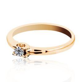 Кольцо для помолвки из золота 585 пробы с бриллиантом - чудесный сюрприз для любимой. Подарите своей любимой незабываемую помолвку! Вес изделия 1,7 грамма.