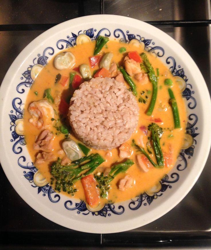 Easy Thaise Rode Curry met Kipdijfilet