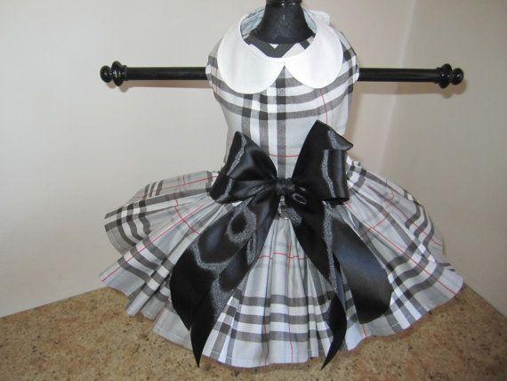 Hey, I found this really awesome Etsy listing at https://www.etsy.com/listing/286202955/dog-dress-xs-black-grey-fashion-plaid-by
