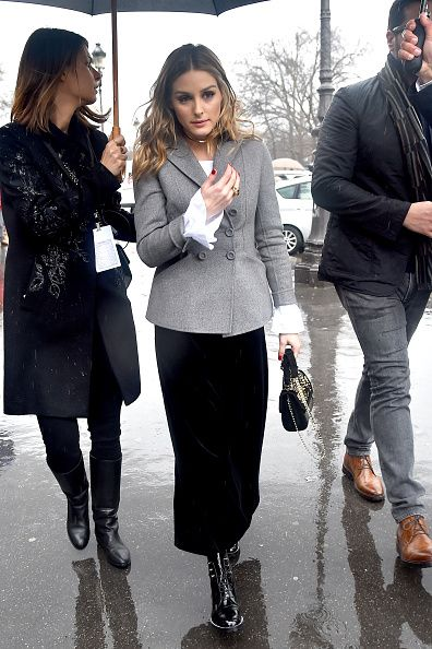 Olivia Palermo is seen arriving at Elie Saab fashion show during the Paris Fashion Week Womenswear Fall/Winter 2017/2018 on March 4 2017 in Paris...