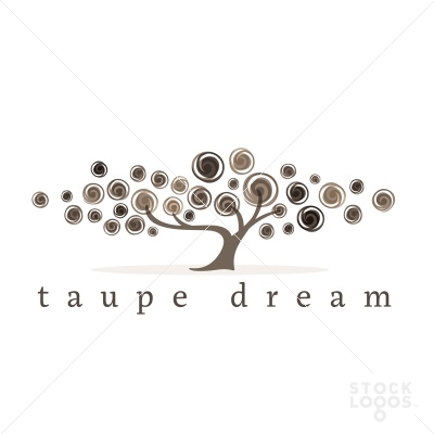 taupe dream tree logo template- again, I like the whimsical aspect. I would like the tree/leaves to be taller