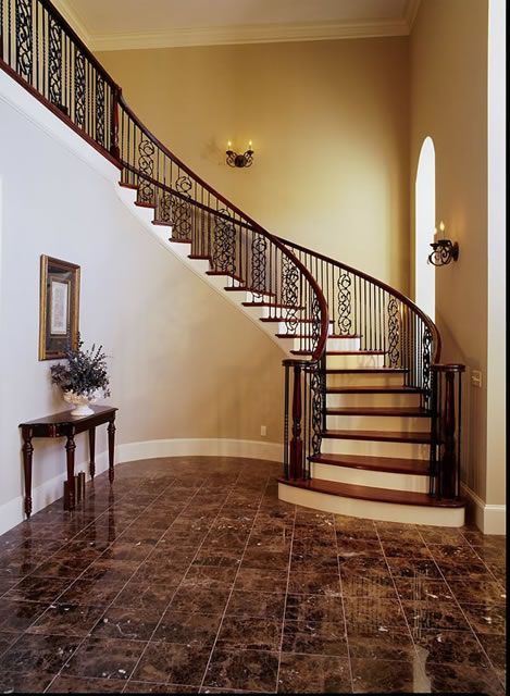 Nice Curved Staircase. Winding ...