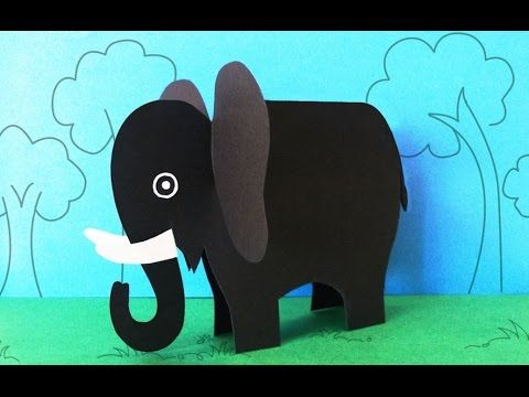 Fun Crafts for Kids : How to Make a Paper Elephant Crafts, Preschool Activities, My Crafts and DIY