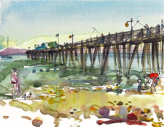Wharf at Capitola Beach, California.