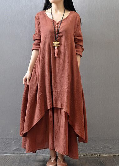Wine Red Long Sleeve Tiered Maxi Dress on sale only US$27.79 now, buy cheap Wine Red Long Sleeve Tiered Maxi Dress at lulugal.com