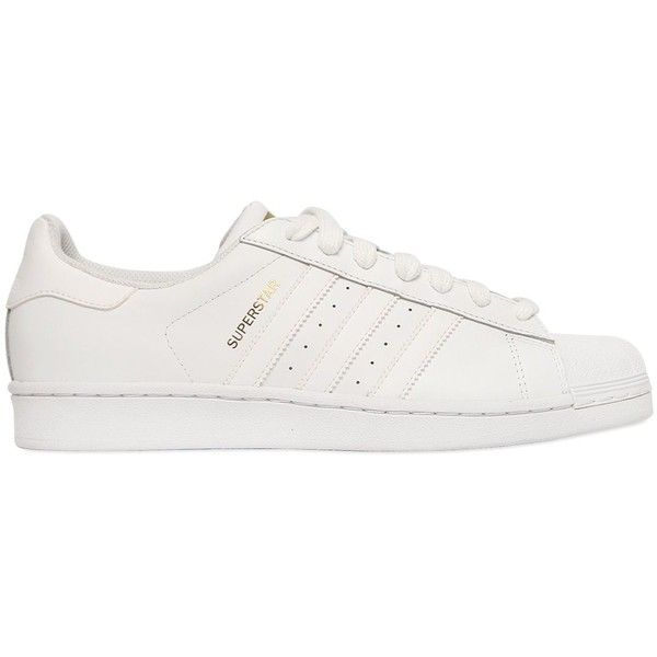 ADIDAS ORIGINALS Superstar Foundation Leather Sneakers - White ($110) ?  liked on Polyvore featuring