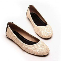 Casual Women's Flat Shoes With Lace Round Toe Design