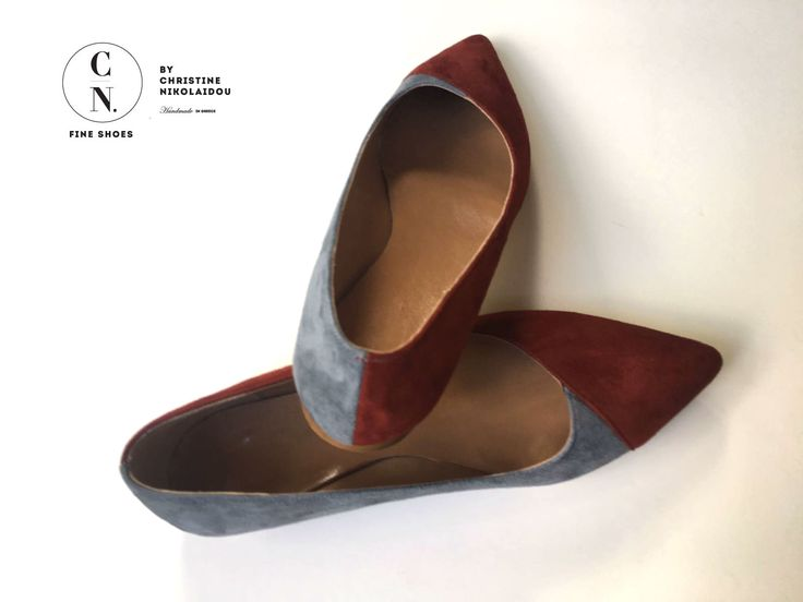 I am already bored of snow and rain and i am looking forward to spring. I feel like... I want to wear my ballet flats!!! Suede pointed toe ballet flats!  Fine Shoes By Christine Nikolaidou- Handmade
