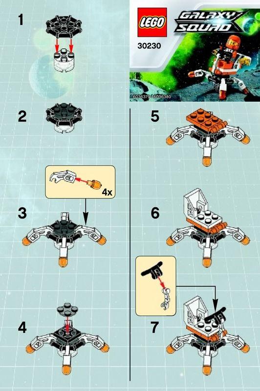 lego instructions LEGO Mini Mech Set 30230 Instructions