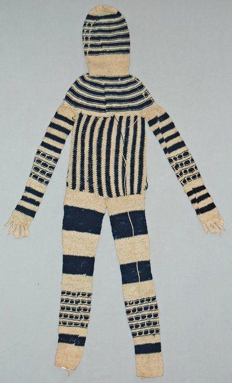 Masquerade costume made of woven cotton cloth. Gade, NIgeria, 1971. (via British Museum)