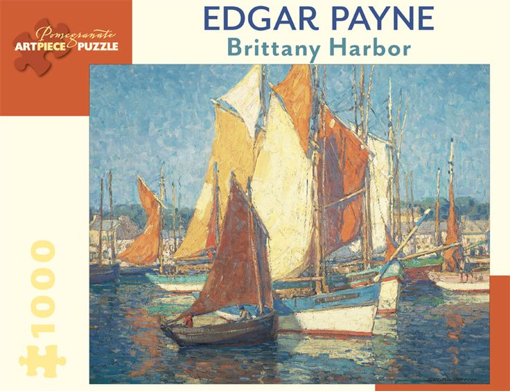 Pomegranate Jigsaw - Brittany Harbour by Edgar Payne (1000 pieces)
